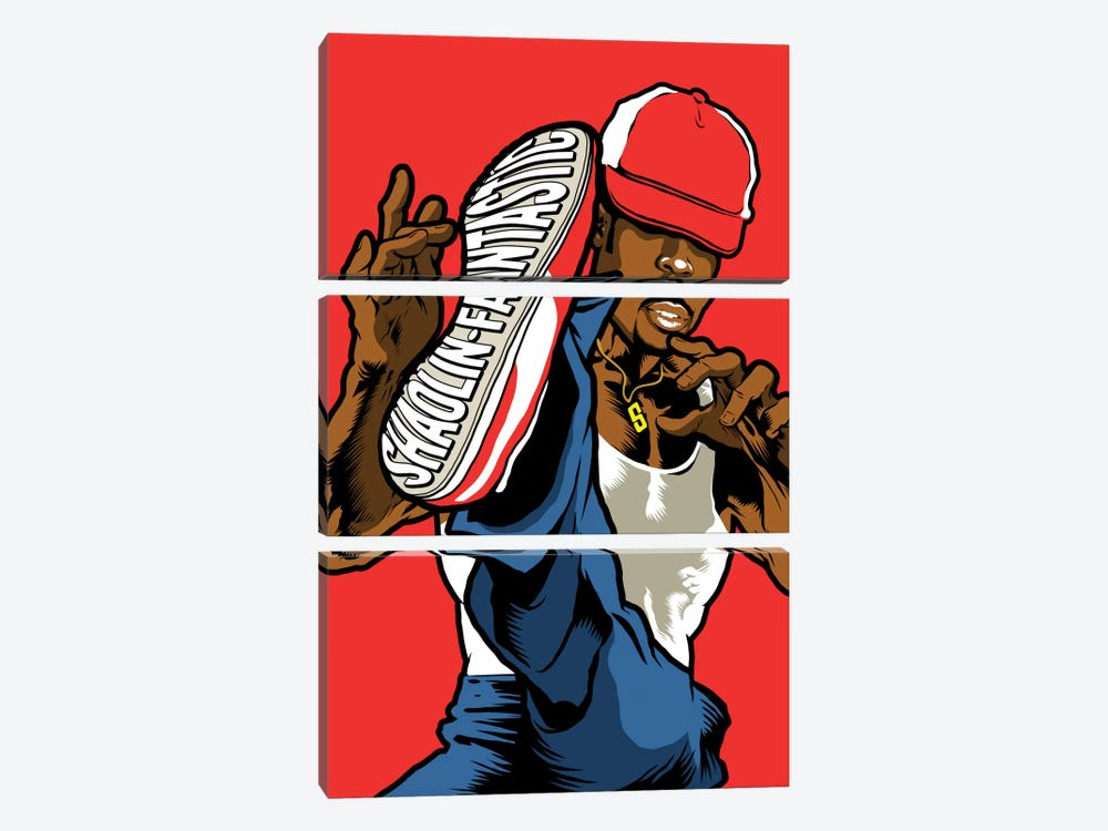 Shaolin Fantastic by Butcher Billy 3-piece Canvas Wall Art