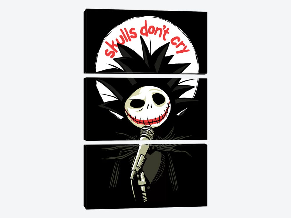 Skulls Don't Cry by Butcher Billy 3-piece Canvas Art