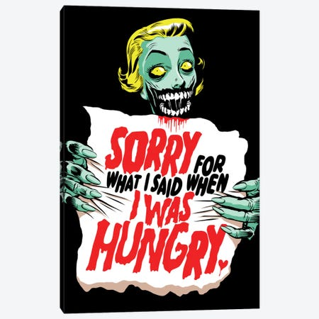 Sorry Zombie Canvas Print #BBY193} by Butcher Billy Canvas Print