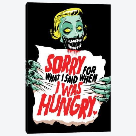 Sorry Zombie Canvas Print #BBY193} by Butcher Billy Canvas Print