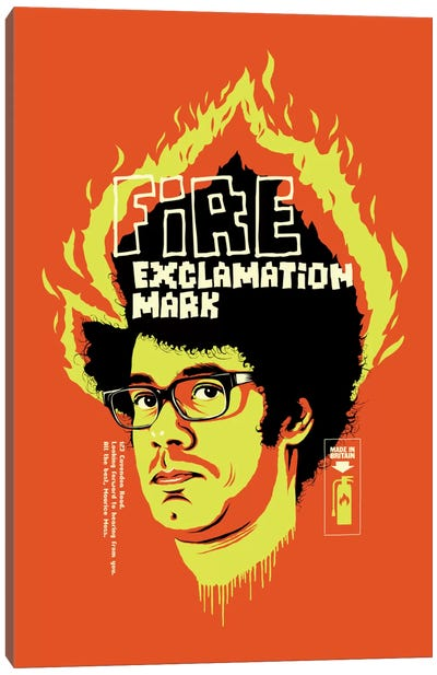 Fire Exclamation Mark Canvas Art Print