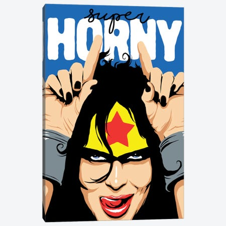Super Horny Canvas Print #BBY201} by Butcher Billy Canvas Print