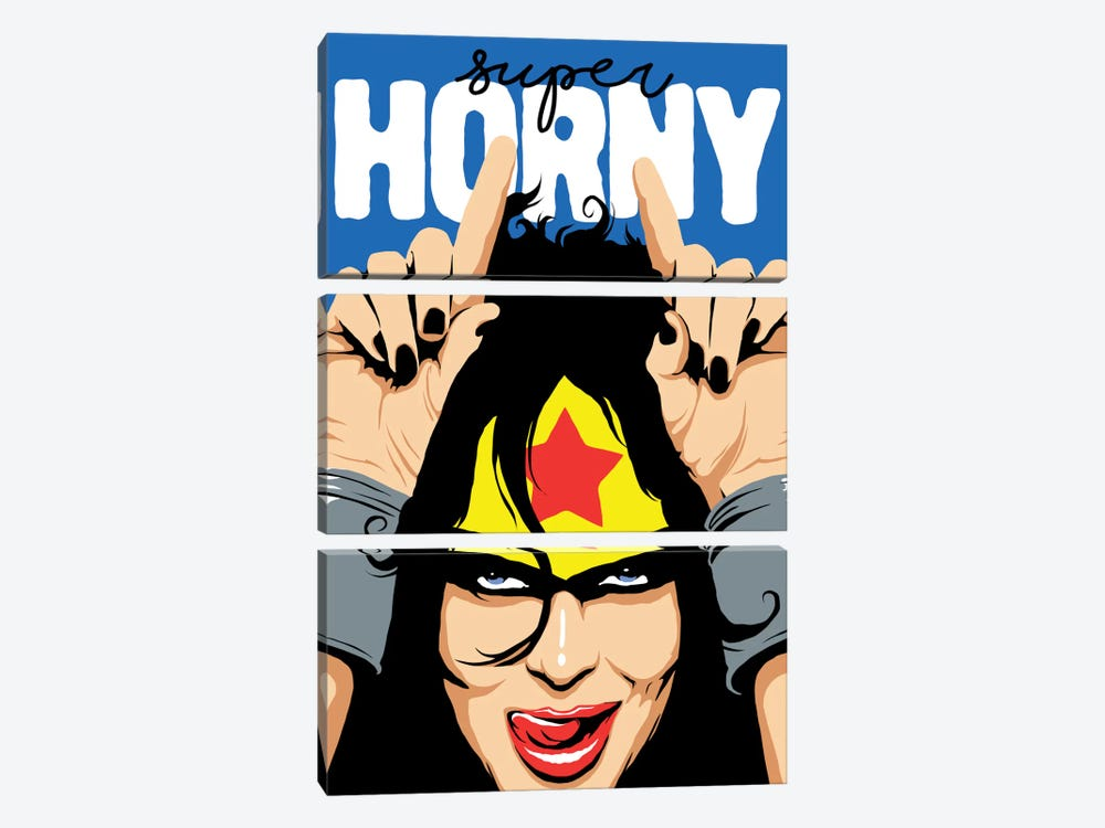 Super Horny by Butcher Billy 3-piece Canvas Art
