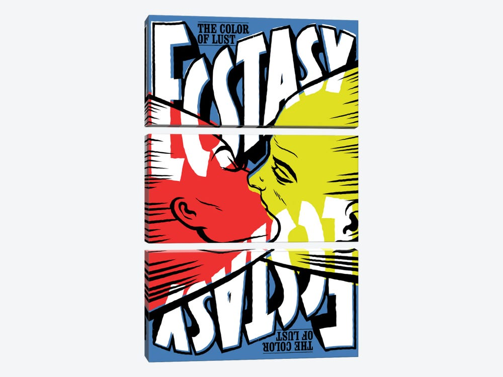 The Color Of Lust by Butcher Billy 3-piece Canvas Wall Art