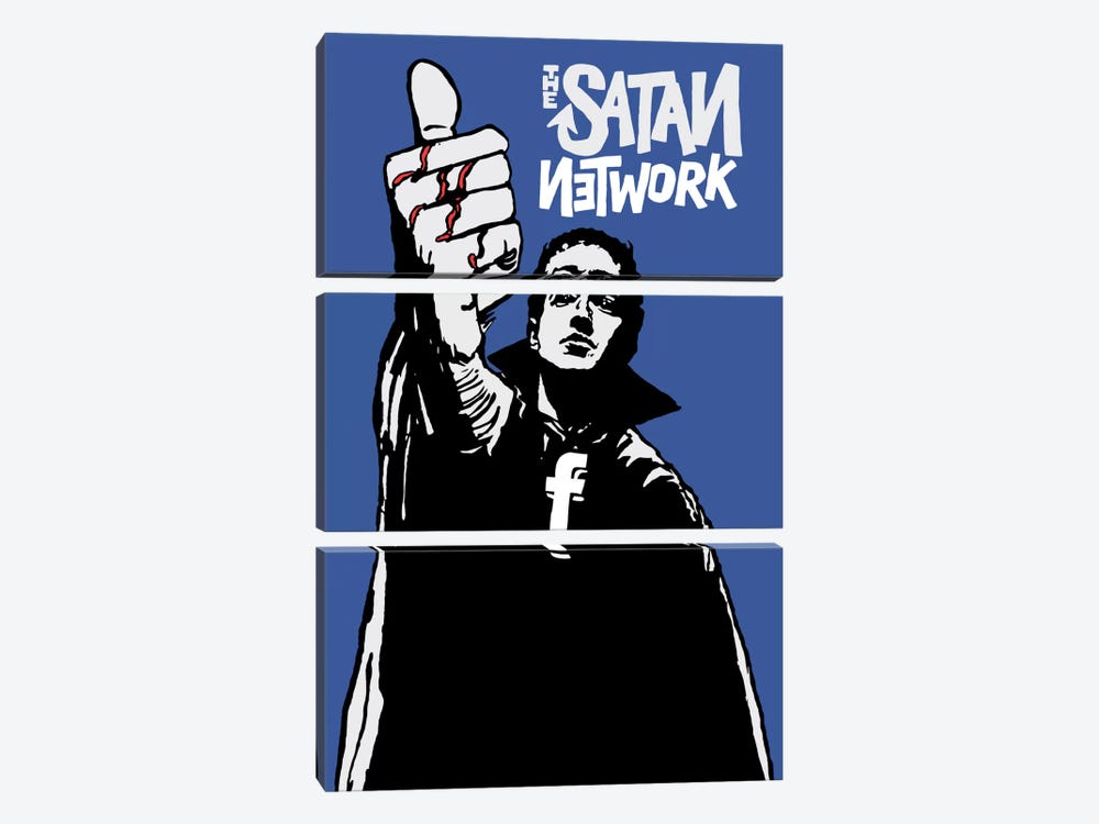 The Satan Network by Butcher Billy 3-piece Canvas Artwork