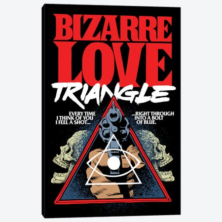 Bizarre Love Triangle Canvas Print #BBY219} by Butcher Billy Canvas Art