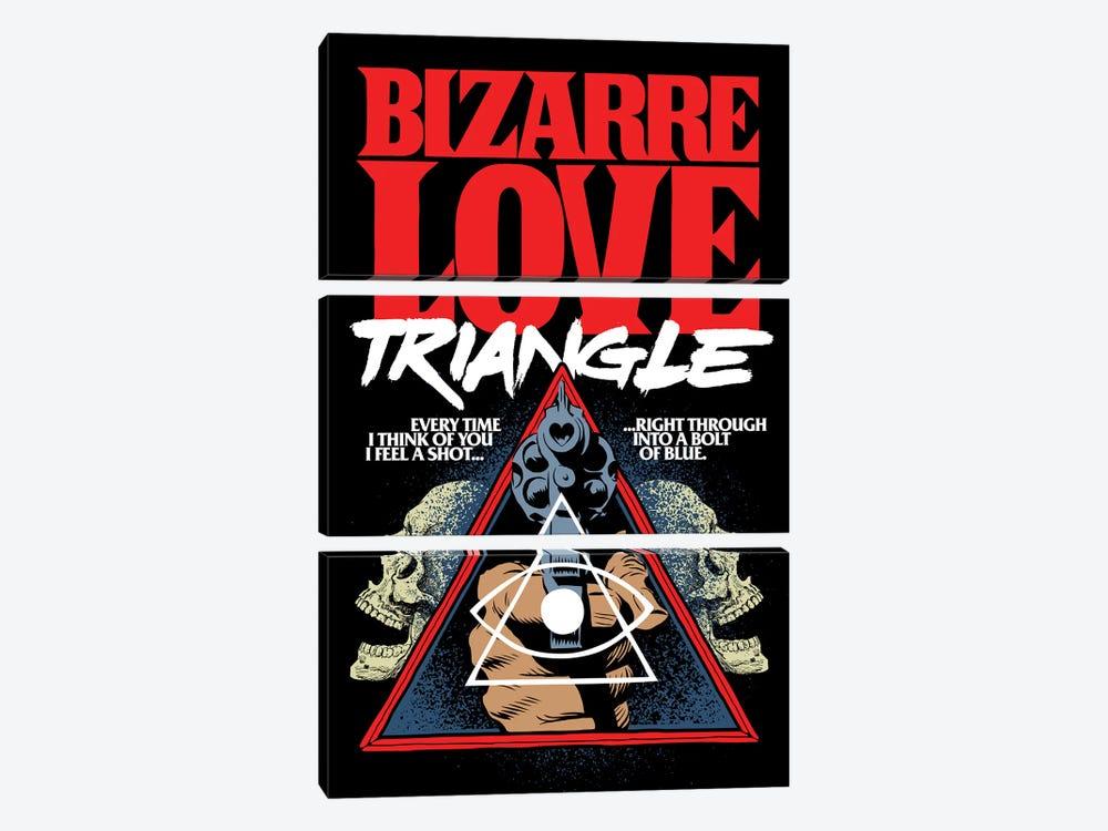 Bizarre Love Triangle by Butcher Billy 3-piece Canvas Art Print