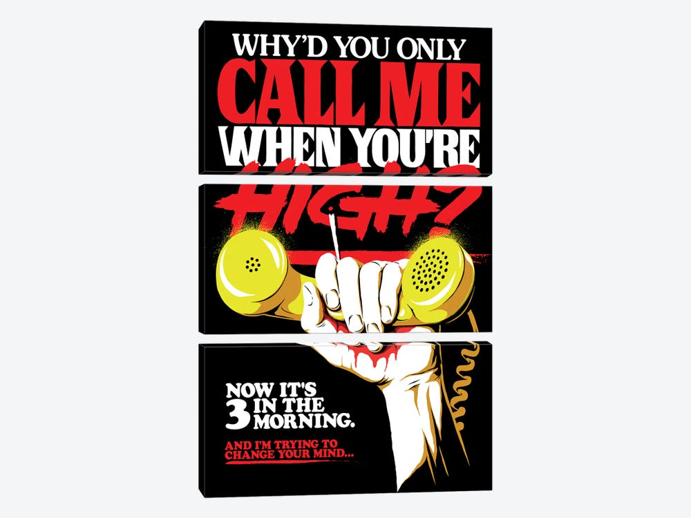 Call Me When You're High by Butcher Billy 3-piece Canvas Artwork