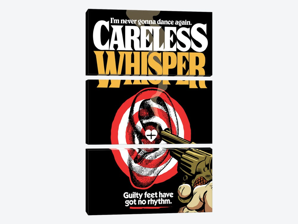 Careless Whisper by Butcher Billy 3-piece Art Print