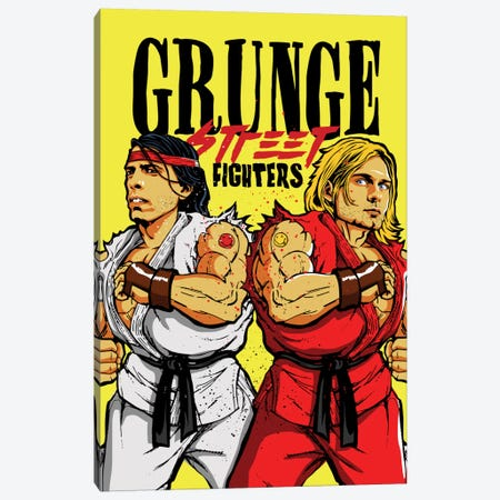 Grunge Street Fighters Canvas Print #BBY22} by Butcher Billy Canvas Art Print