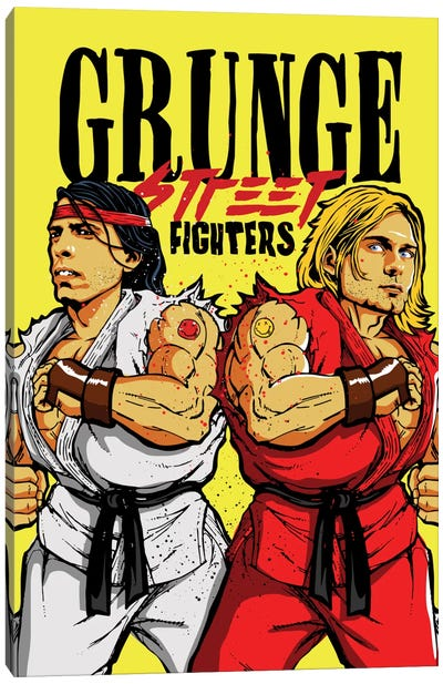 Grunge Street Fighters Canvas Art Print