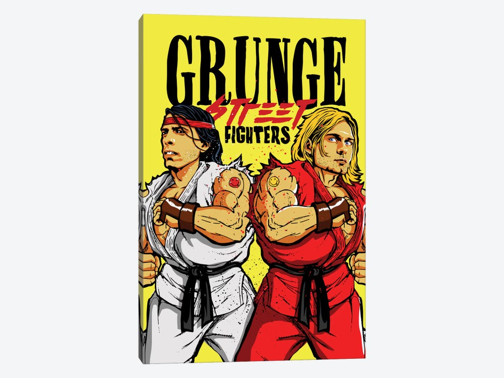 Grunge Street Fighters by Butcher Billy 1-piece Canvas Art Print
