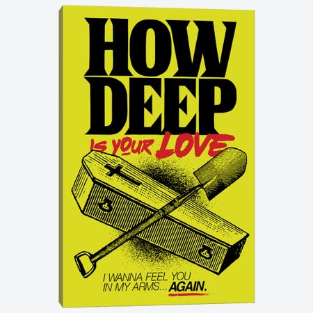 How Deep Is Your Love? Canvas Print #BBY233} by Butcher Billy Canvas Wall Art
