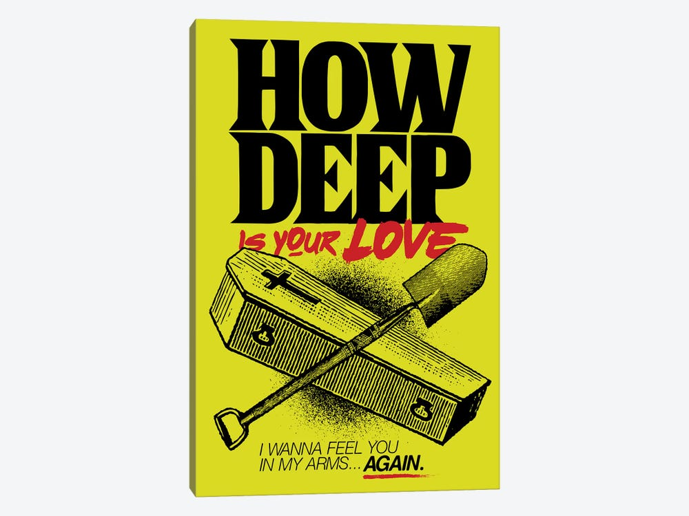 How Deep Is Your Love? 1-piece Canvas Art Print