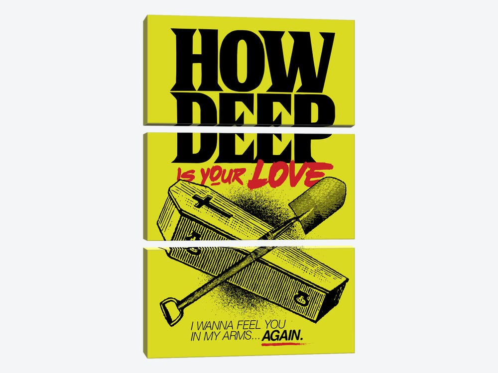 How Deep Is Your Love? by Butcher Billy 3-piece Canvas Print