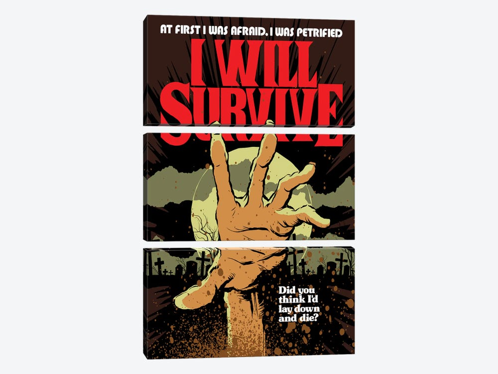 I Will Survive by Butcher Billy 3-piece Canvas Artwork