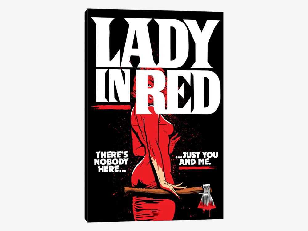 Lady In Red by Butcher Billy 1-piece Canvas Wall Art
