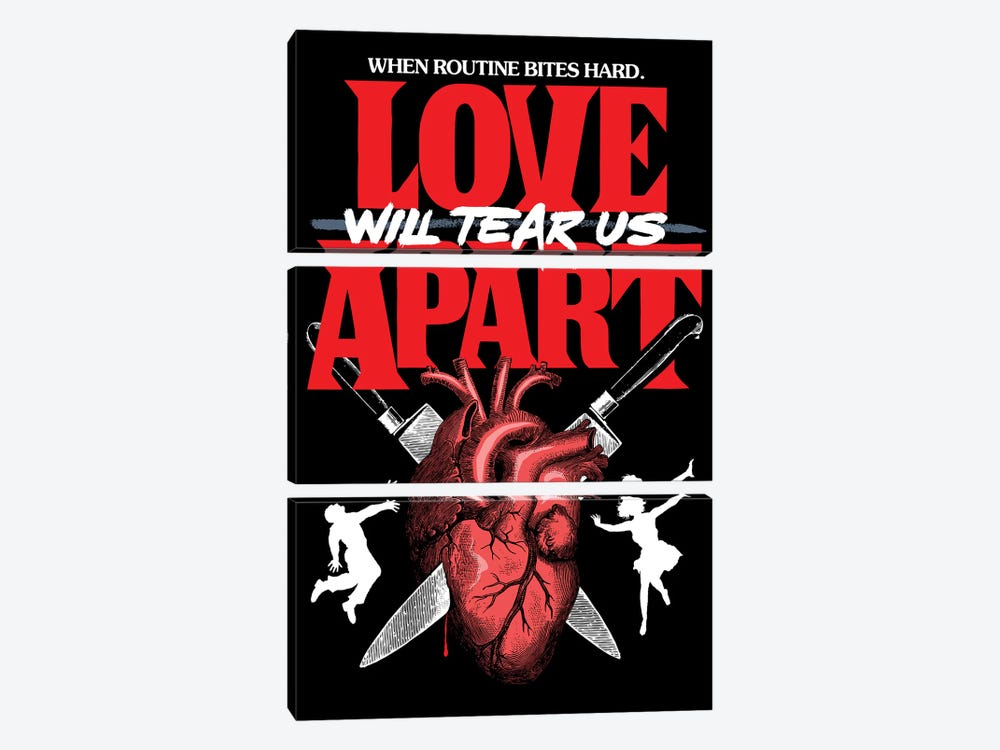Love Will Tear Us Apart by Butcher Billy 3-piece Canvas Artwork