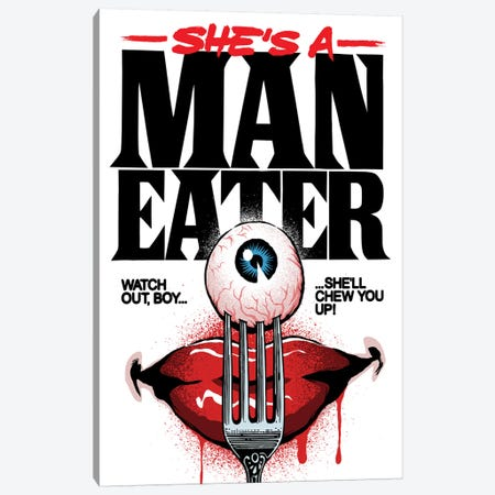 Maneater Canvas Print #BBY239} by Butcher Billy Canvas Wall Art