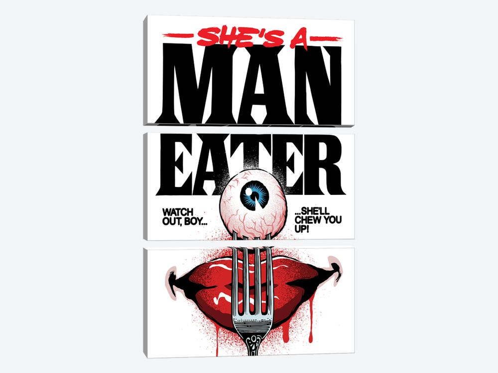 Maneater by Butcher Billy 3-piece Art Print