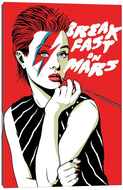 Breakfast On Mars Canvas Art Print