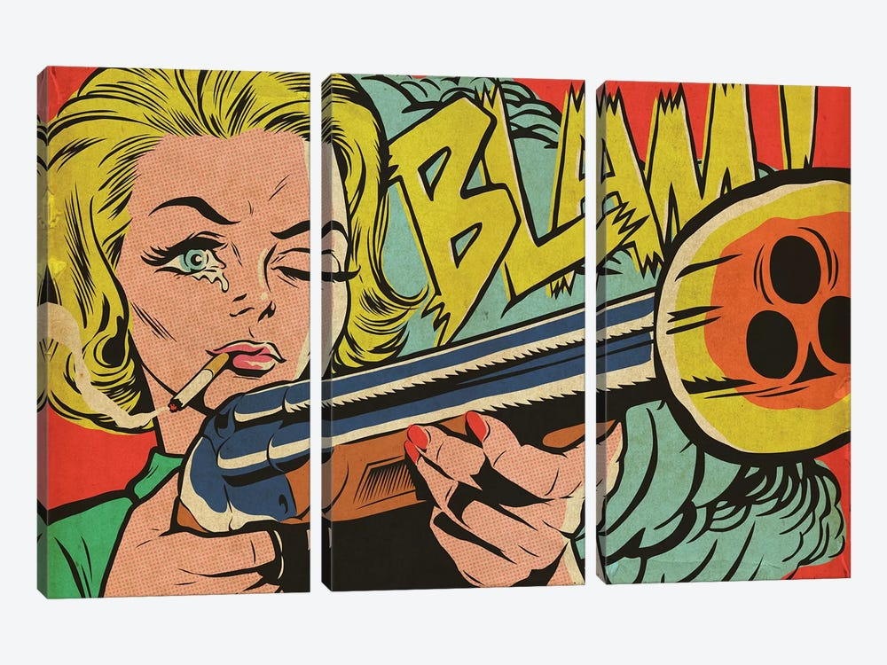 Mad Women by Butcher Billy 3-piece Canvas Art Print