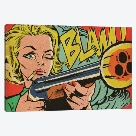 Mad Women Canvas Print #BBY257} by Butcher Billy Art Print