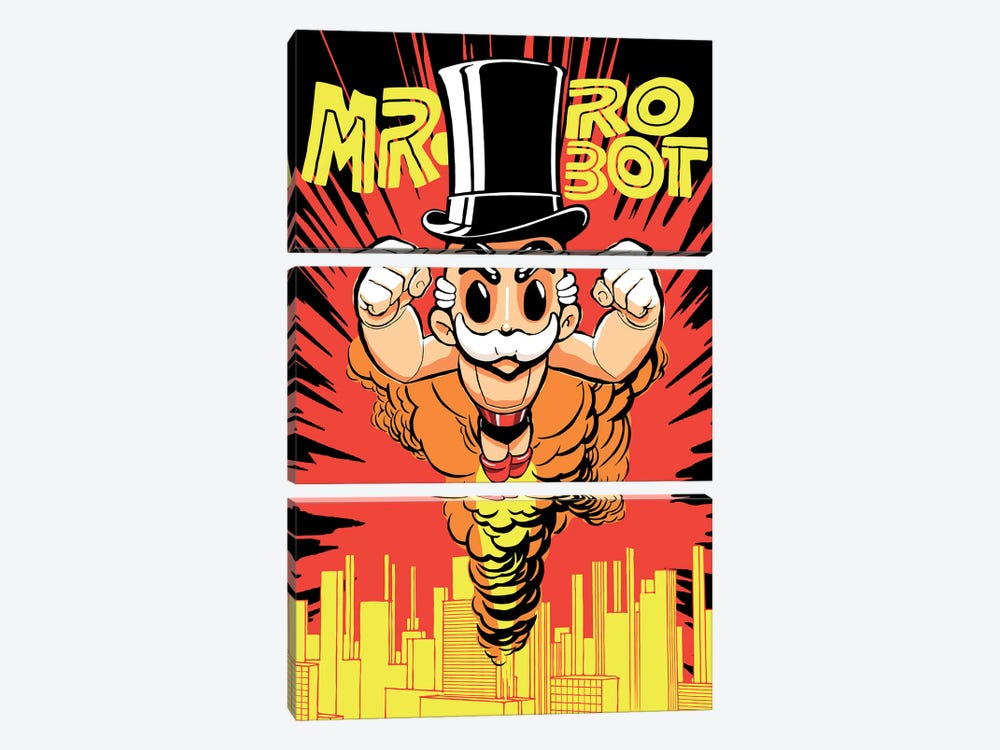 The Robots by Butcher Billy 3-piece Canvas Artwork