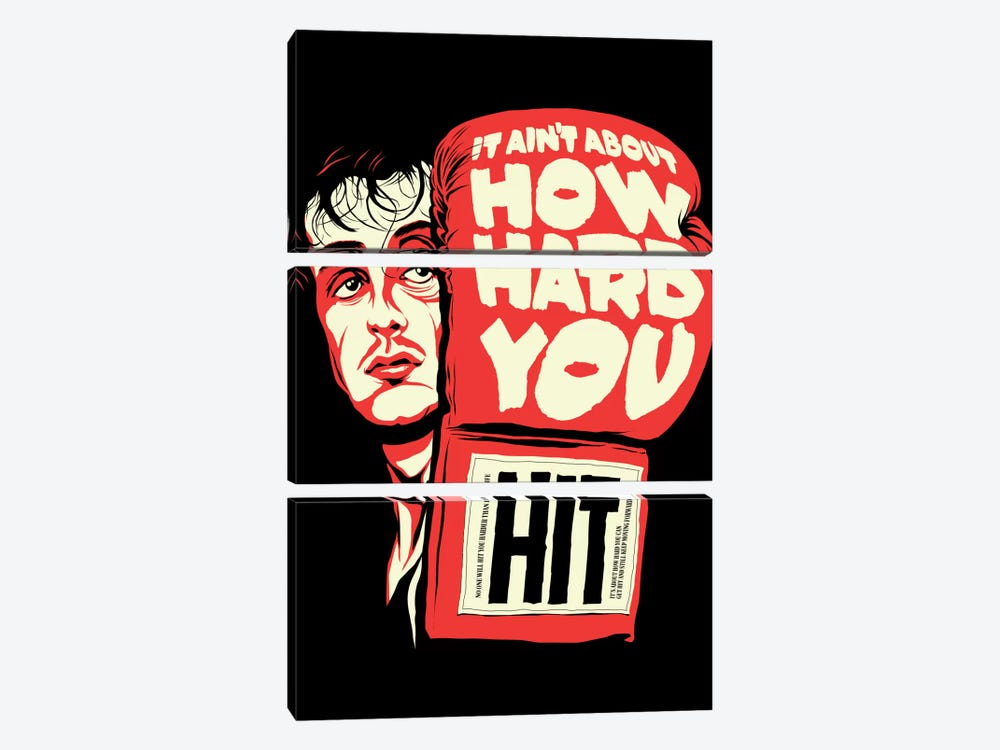 How Hard You Hit by Butcher Billy 3-piece Canvas Print