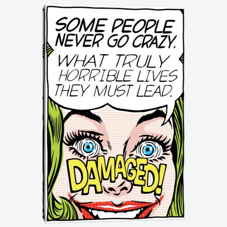 Never Go Crazy Canvas Print #BBY270} by Butcher Billy Canvas Artwork