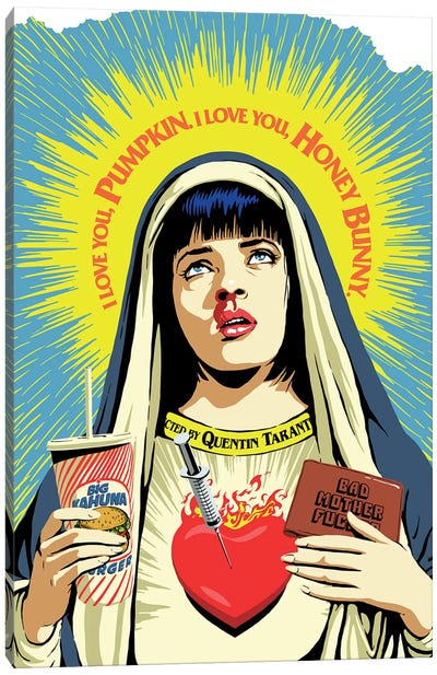 The Pulp Virgin Canvas Art Print