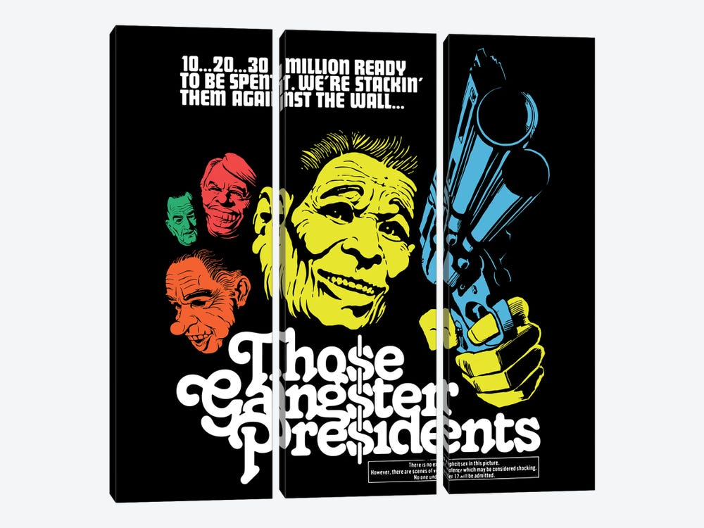 Those Gangster Presidents by Butcher Billy 3-piece Art Print