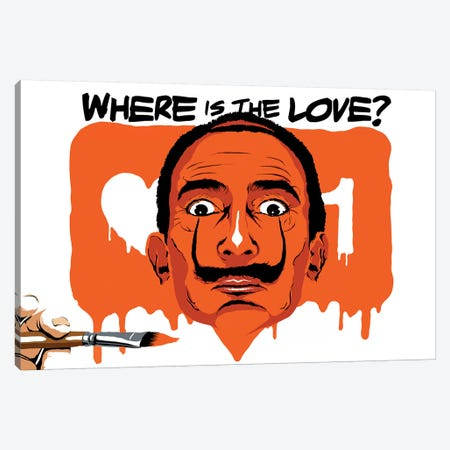 Where Is The Love Canvas Print #BBY286} by Butcher Billy Canvas Wall Art