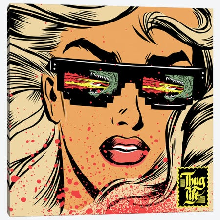 Game of Thugs Canvas Print #BBY287} by Butcher Billy Canvas Wall Art
