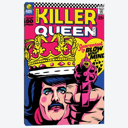 The Killer Canvas Print #BBY294} by Butcher Billy Canvas Art Print