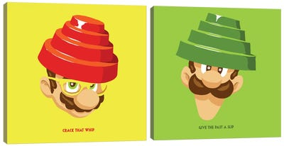 Are We Not Plumbers Diptych Canvas Art Print