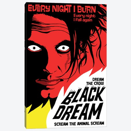 Black Dream Canvas Print #BBY313} by Butcher Billy Art Print