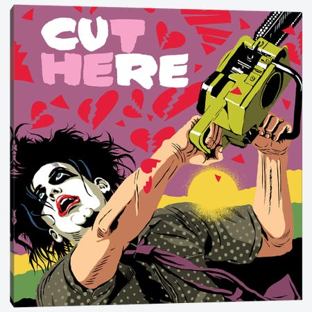 Cut Here Canvas Print #BBY316} by Butcher Billy Canvas Artwork