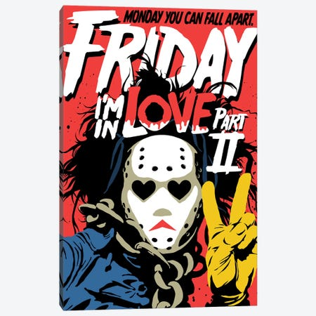 Friday Love Part 2 - A New Cut Canvas Print #BBY318} by Butcher Billy Art Print
