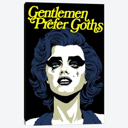 Gentleman Prefer Goths Canvas Print #BBY334} by Butcher Billy Canvas Artwork