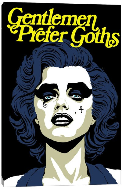 Gentleman Prefer Goths Canvas Art Print