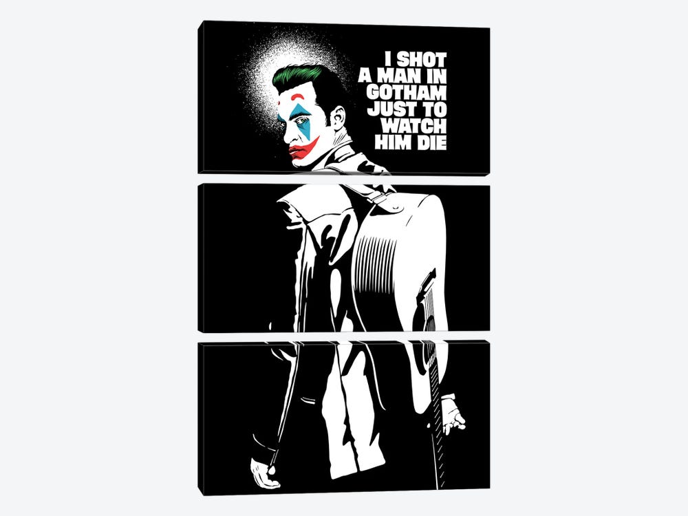 The Shot - Black And White by Butcher Billy 3-piece Canvas Print