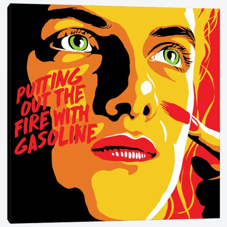 Putting Out The Fire Canvas Print #BBY353} by Butcher Billy Canvas Art Print