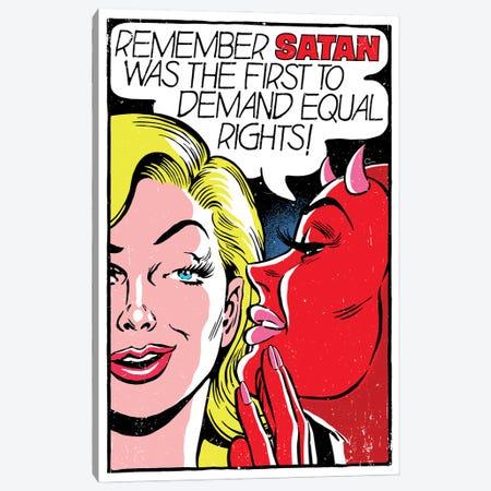 Remember Satan Canvas Print #BBY354} by Butcher Billy Canvas Artwork