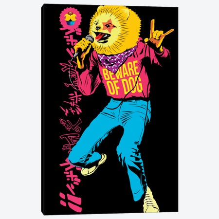 Pomeranian Rock Dogs - Beware of Dog Canvas Print #BBY35} by Butcher Billy Art Print