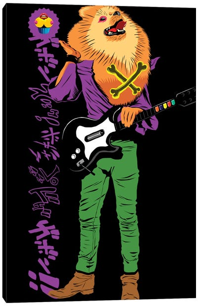 Pomeranian Rock Dogs - Rebel Rebel Canvas Print #BBY38