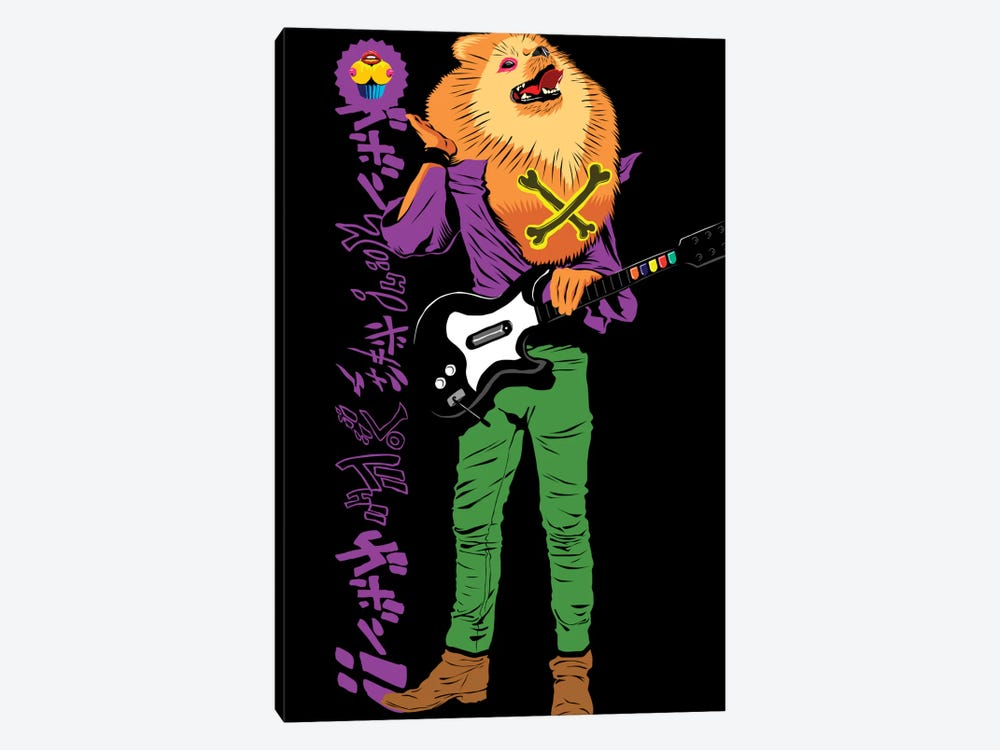 Pomeranian Rock Dogs - Rebel Rebel by Butcher Billy 1-piece Canvas Art