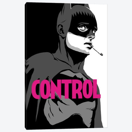 BatControl - The B&W Edit Canvas Print #BBY3} by Butcher Billy Canvas Art