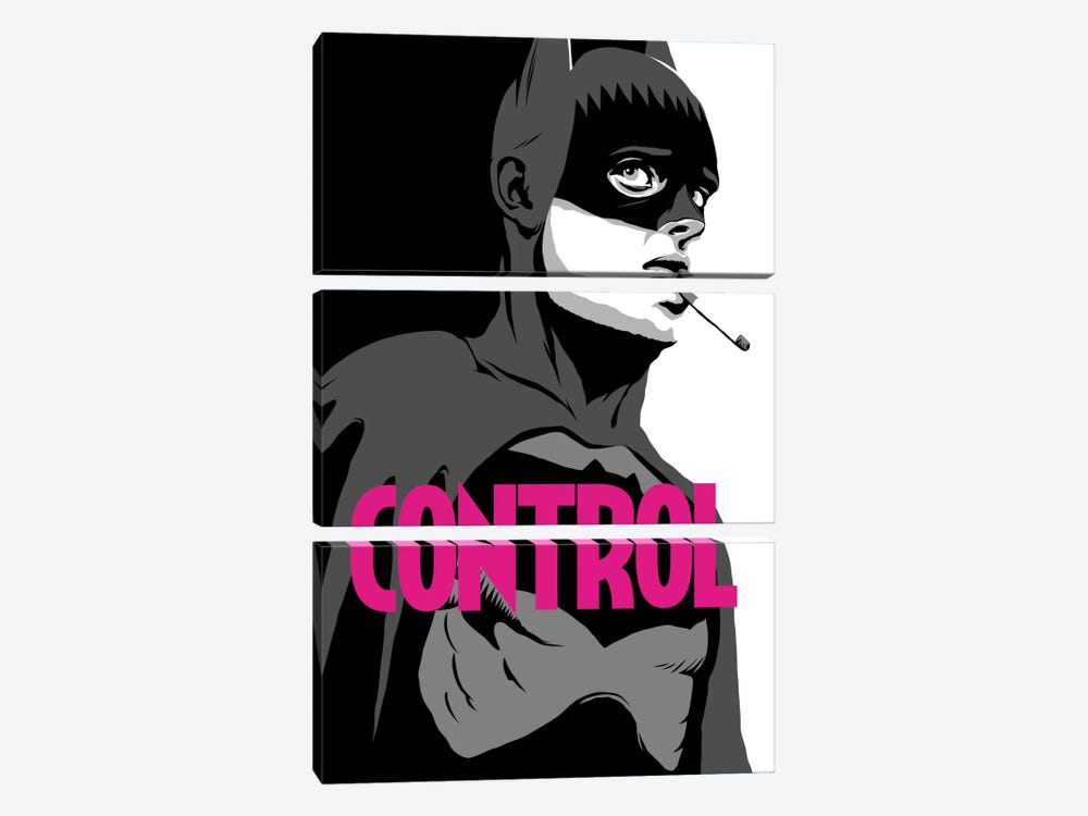 BatControl - The B&W Edit by Butcher Billy 3-piece Canvas Artwork