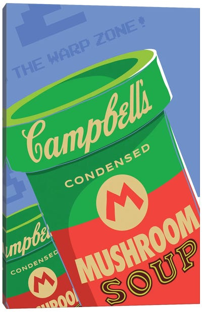 Welcome to the Warhol Zone Canvas Art Print